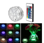 10 LED Remote Controlled Waterproof Pool Lights IP68 RGB Submersible Pool Party Light Toy Underwater Swim Pool Party Decoration