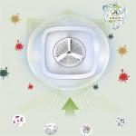 Home mini portable travel baby underwear folding automatic washing machine