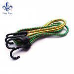 Colorful elastic bungee cord with plastic hook