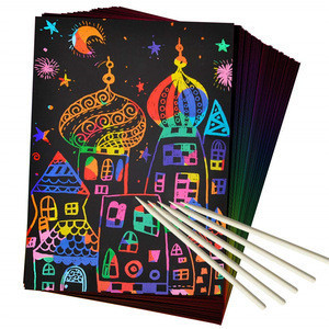 Rainbow Scratch Paper Art Kit for Kids for Christmas Party Birthday Game