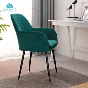 wholesale fabric chair with metal legs dining room furniture dining chairs modern accent armchairs for living room
