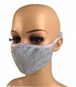 2020 new designer Custom Stylish reusable party mask Washable rhinestone Bling Shiny face mask fabric cotton facemask