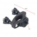 Sturdy Aluminium Metal 1/4-20 Thread Camera Bike/Bicycle/Motorcycle Handlebar Mount For GoPro Camera Accessories