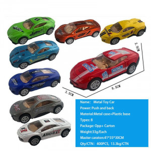Push and back metal toy cars