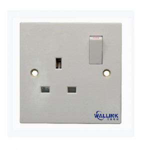 Hot Sale Single Pole Doulbe Pole White Wall Switch And Socket for Industrial