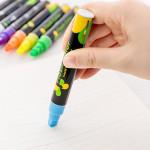 Liquid Chalk Marker Pens Erasable Multi Colored Highlighters LED Writing Board Glass Window Art flash Color Marker Pens