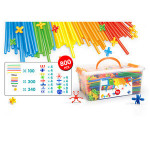 DIY strew 3Dpuzzle educational toys New lanched in June patent pipe connectors 800 pieces set