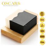 ODM square handmade natural ingredient oil control bath soap with bamboo charcoal powder