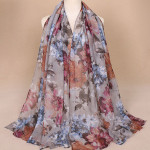 2018 factory scarfs hijabs printed viscose scarf pattern digital print beautiful flowers shawls