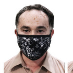 4 layers reusable washable breathable mask made of antimicrobial fabrics cotton polyester mesh Fabric combination Textile mask