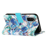 Case For Samsung Galaxy S20 S20 Plus S20 Ultra  Marble Leather Wallet Phone Cover