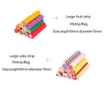 Food game soft clay fruit strips ultra light clay tools children handmade DIY butter soil accessories