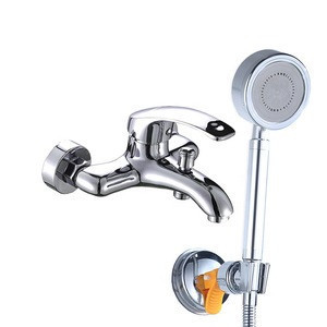 Cheap ABS shower head and brass shower mixer bath shower sets