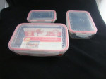 Nested food storage container set divided plastic food container
