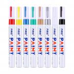 Newly designed  China Facoty   12 colors paint marker pen DIY album graffiti pen car tyre paint marke Oily permanent marker pen