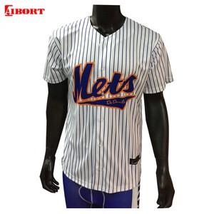 Custom Softball Shirt Stripes Baseball Shirt Sublimated Baseball Uniform Blank Baseball Jerseys
