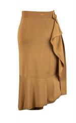 Custom High Quality Brown Ladies Irregular Hemline Knit Sexy 2020 Women Knit Skirt