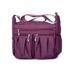 Spring new Korean version of women's color one-shoulder sloping bag leisure outdoor sports women's bag small bag manufacturer