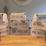 Factory high quality rustic style distressed wood crate unfinished wood crate for storage