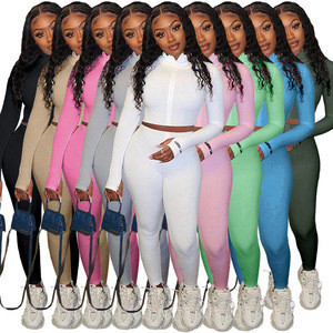 Hot Sale Wholesale Women Tracksuits Two Piece Set Joggers Women fitness clothing