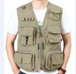 stand collar sleeveless jacket mens quick-drying waistcoat outdoor  multi-bag fishing vest