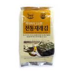 The natural Korea roasted seasoned seaweed laver snack (Gim)