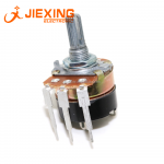 WH138-1 B5K / 10K / 20K / 50K / 100K / 250K / 500K with switch dimming speed potentiometer 24mm 3pin long pin PCB Mount 2 watts