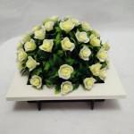 White Bonsai Modern Fashion Style Square Artificial Flower Bonsai