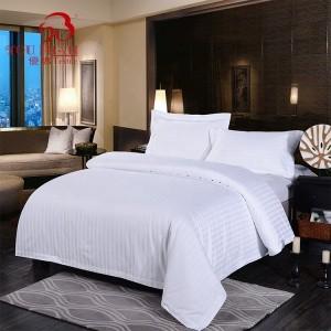 High Quality Satin Hotel Bedding Linen 100% Cotton 60s Plain Bed Sheet