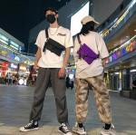 2020 Fashion Neutral Personality Street Nylon Pockets Versatile waterproof Shoulder Messenger sports bag Hip hop chest bag