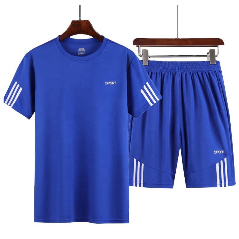 Plain linen Suits  Summer Men's Running Sportswear Sets  Short Jogging Tracksuits