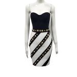 2020 new arrivals fashion women elegant off shoulder bandage cocktail dresses