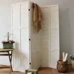 3 Panel Wooden Slatted Room Divider Home Changing Screen Separator Concertina