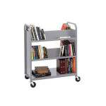 Wheels Library Furniture/Metal Book Trolley/Library Trolley Cart