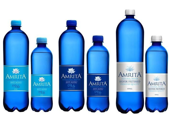 AMRITA ALKALINE ANTI-AGING MINERAL WATER 1L STILL SPARKLING pH9