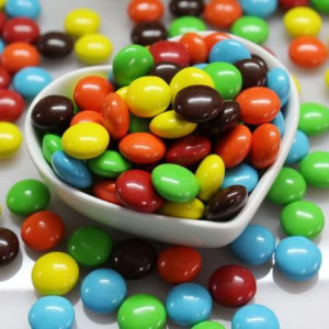 Halal colorful chocolate beans