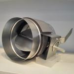 Galvanized round damper for HVAC air duct system