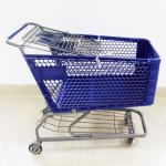 25kg35kg Supermarket Market Plastic Folding Shopping Trolley cart