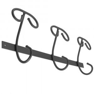 Solid hooks 3 hooks Iron hook with antique black powder finishing