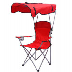Foldable Backpack Beach Sunshade Camping Chair With Canopy