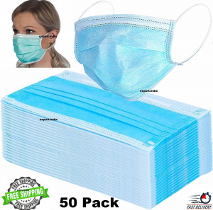 Disposable Face Mask Surgical Medical Dust Masks 2 Ply 20-50-100 Pcs Fast Ship