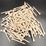 Cheap 42mm/54mm/70mm/83mm bamboo golf tee high quality golf wood tees