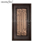 China supplier single glass iron grill window door designs