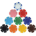 Custom Poker Chips Casino ABS+Iron+Clay Chip Texas Hold'em Poker Metal Coins Black Jack Chips Set Poker Accessories Wholesale