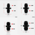 Generic Aluminum Anodized AN4 Female to AN 4Male Flare Reducing Fuel Oil Hose Line Pipe Adapter Fitting Connectors Reducer