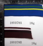 Wholesale good quality stripe flat knit elastic grosgrain Rib collars tape
