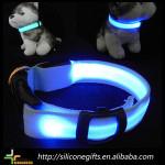 customized nylon led flashing beaded dog collar